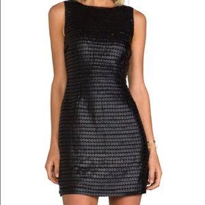 BB Dakota faux leather circle pailette dress